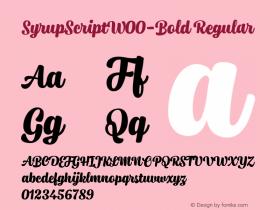 SyrupScript-Bold