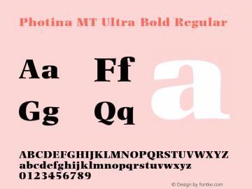 Photina MT Ultra Bold