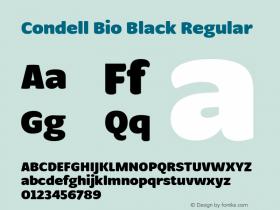 Condell Bio Black