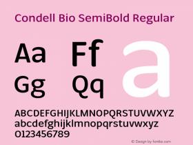 Condell Bio SemiBold