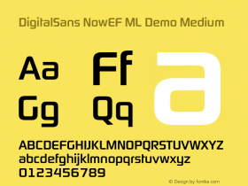 DigitalSans NowEF ML