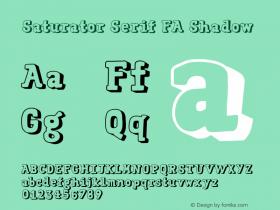 Saturator Serif FA