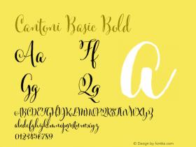 Cantoni Basic Bold