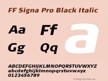 FF Signa Pro Black