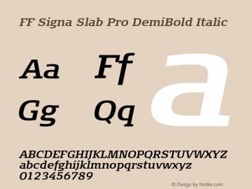 FF Signa Slab Pro DemiBold