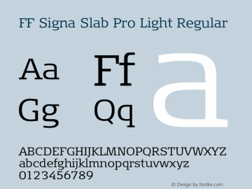 FF Signa Slab Pro Light