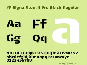 FF Signa Stencil Pro Black