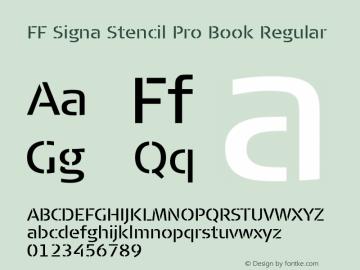 FF Signa Stencil Pro Book
