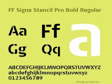 FF Signa Stencil Pro Bold