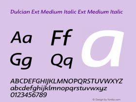 Dulcian Ext Medium Italic