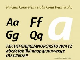 Dulcian Cond Demi Italic