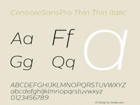CentraleSansPro Thin