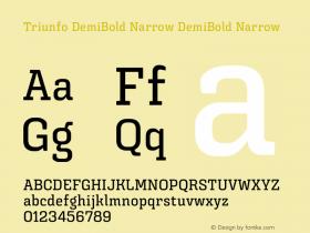 Triunfo DemiBold Narrow