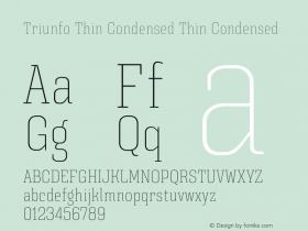 Triunfo Thin Condensed