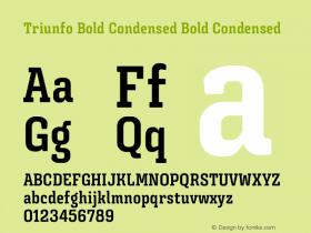 Triunfo Bold Condensed