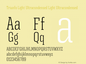 Triunfo Light Ultracondensed