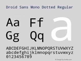 Droid Sans Mono Dotted