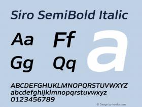 Siro SemiBold