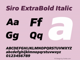 Siro ExtraBold