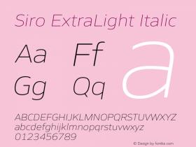 Siro ExtraLight