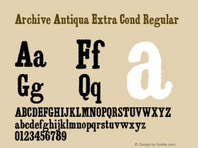 Archive Antiqua Extra Cond