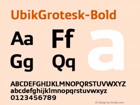 UbikGrotesk-Bold