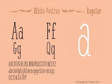 { White Festive }