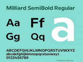 Milliard SemiBold