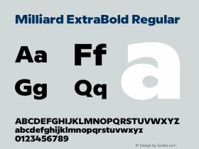 Milliard ExtraBold