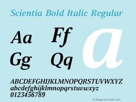 Scientia Bold Italic