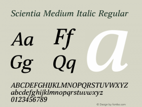 Scientia Medium Italic