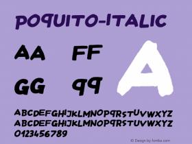 Poquito-Italic