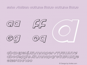 Echo Station Outline Italic