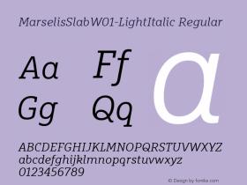 MarselisSlab-LightItalic