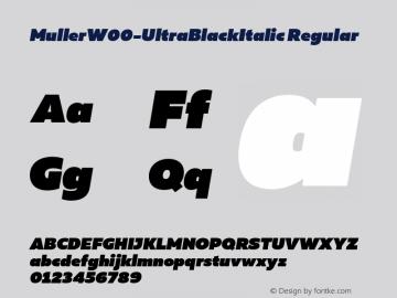 Muller-UltraBlackItalic