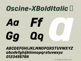 Oscine-XBoldItalic