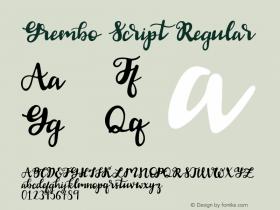 Grembo Script