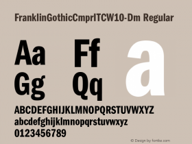 FranklinGothicCmprITC-Dm