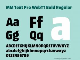 MM Text Pro WebTT Bold