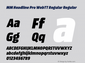 MM Headline Pro WebTT Regular