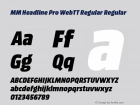 MM Headline Pro WebTT Regular