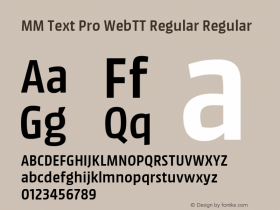 MM Text Pro WebTT Regular