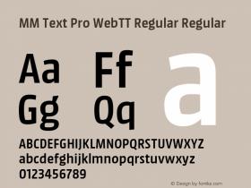 MM Text Pro WebTT Regular