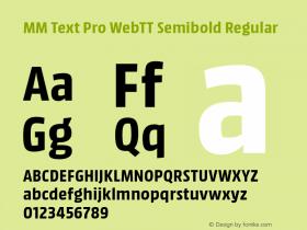 MM Text Pro WebTT Semibold