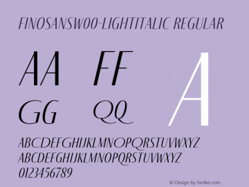 FinoSans-LightItalic