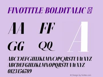 FinoTitle-BoldItalic