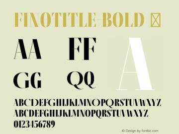 FinoTitle-Bold