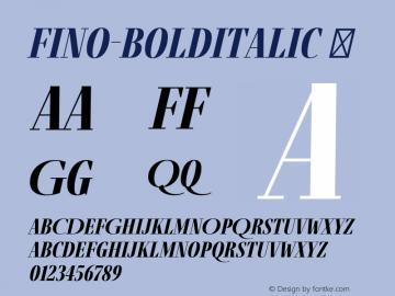 Fino-BoldItalic