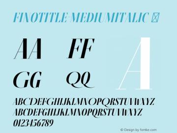 FinoTitle-MediumItalic
