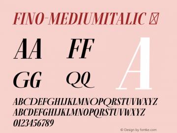 Fino-MediumItalic